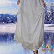 """Одежда ручной работы. Ярмарка Мастеров - ручная работа юбка из шифона """"Первый снег"""". Handmade."""