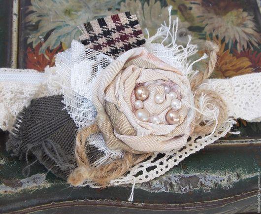 Диадемы, обручи ручной работы. Ярмарка Мастеров - ручная работа. Купить Ободок-резинка на голову с цветами в стиле Бохо.. Handmade.