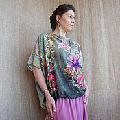 Одежда ручной работы. Ярмарка Мастеров - ручная работа Блуза-туника  Летняя акварель. Handmade.