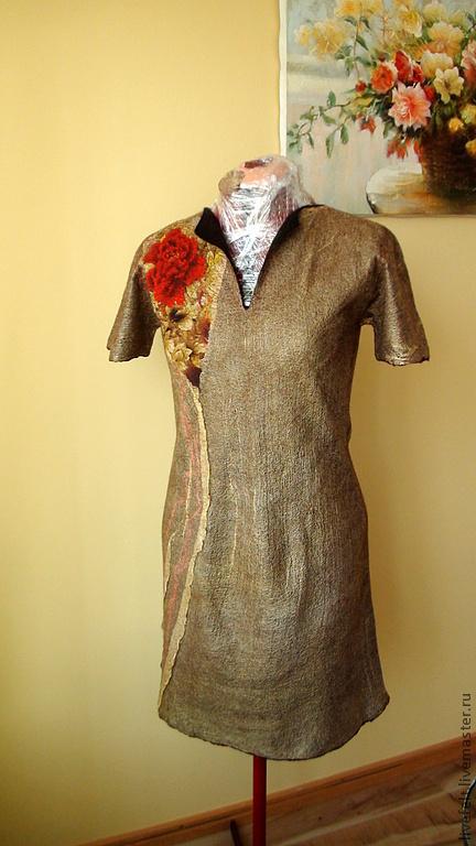 Платья ручной работы. Ярмарка Мастеров - ручная работа. Купить Валяное коктейльное платье 2 в 1. Handmade. Жакет, цветочный