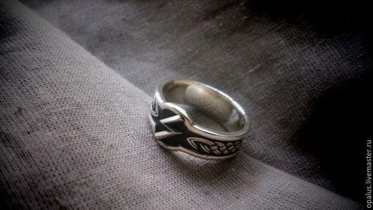 """Кольца ручной работы. Ярмарка Мастеров - ручная работа. Купить Кольцо """"Руна Соулу"""". Handmade. Кольцо из серебра, Руна Соулу"""