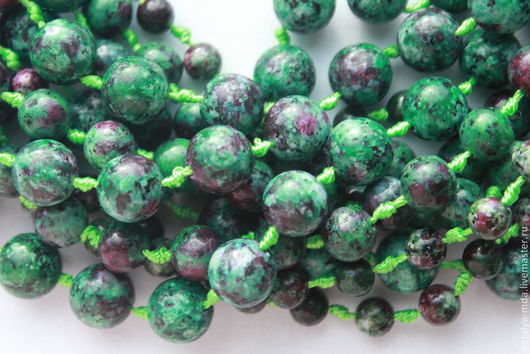 Для украшений ручной работы. Ярмарка Мастеров - ручная работа. Купить Циозит круглые бусины. Handmade. Зеленый, натуральные камни