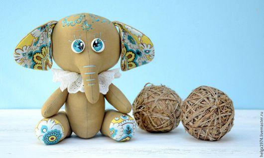 Игрушки животные, ручной работы. Ярмарка Мастеров - ручная работа. Купить Слоник текстильная игрушка. Handmade. Оливковый, синтепон