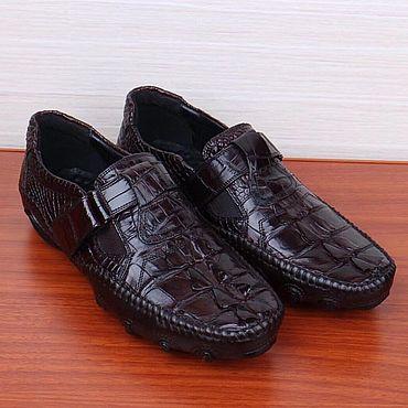 Обувь ручной работы. Ярмарка Мастеров - ручная работа Мокасины из хвостовой части кожи крокодила.. Handmade.