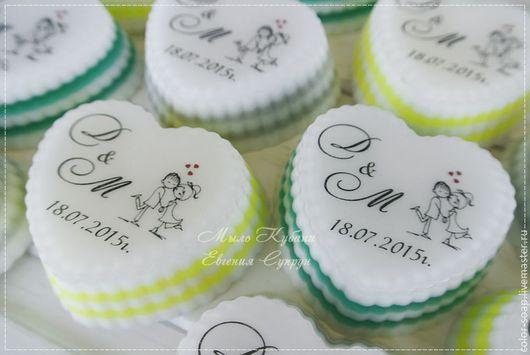 Мыло ручной работы. Ярмарка Мастеров - ручная работа. Купить Свадебное мыло, подарки для гостей, мыло на свадьбу. Handmade. Разноцветный