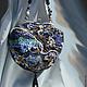 """Женские сумки ручной работы. Ярмарка Мастеров - ручная работа. Купить сумочка """"Золотые пески"""". Handmade. Тёмно-синий, вышивка"""