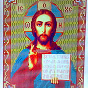 Материалы для творчества handmade. Livemaster - original item Scheme of the icon of the Lord Almighty. Handmade.