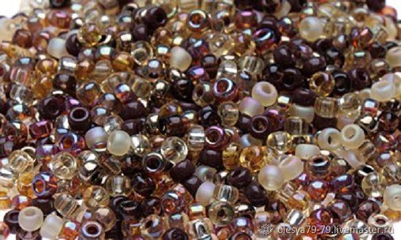10g Miyuki 11/0 mix 04 wheat round Japanese seed beads, Beads, Chelyabinsk,  Фото №1