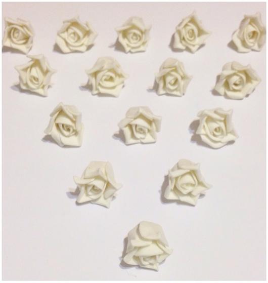 Материалы для флористики ручной работы. Ярмарка Мастеров - ручная работа. Купить Цветочки из фоама, 10 штук в наборе, ручная работа. Handmade.