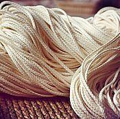 Материалы для творчества ручной работы. Ярмарка Мастеров - ручная работа 3023L шнур льняной отбелённый. Handmade.