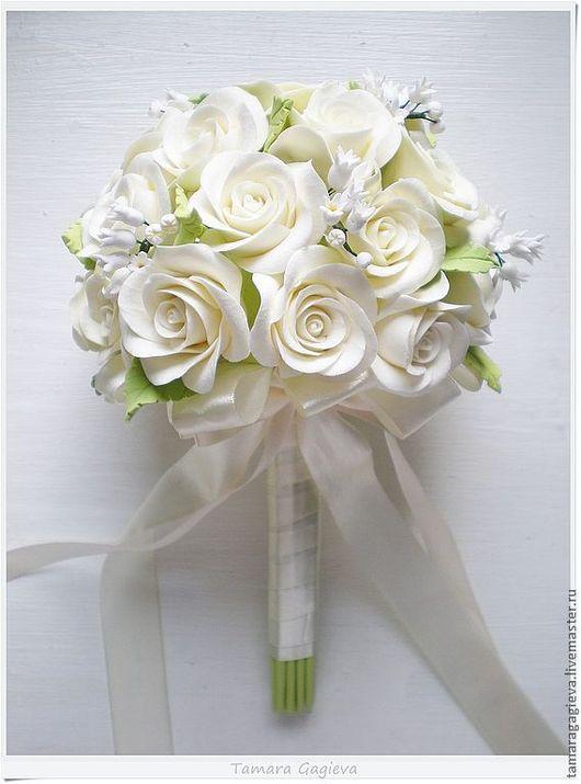 Свадебные цветы ручной работы. Ярмарка Мастеров - ручная работа. Купить Кремовый букет невесты. Handmade. Кремовый, ландыши