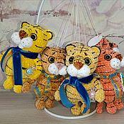 Куклы и игрушки handmade. Livemaster - original item Soft toys: Tiger. tiger knitted. Symbol 2022. Handmade.