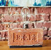 """Для дома и интерьера ручной работы. Ярмарка Мастеров - ручная работа Оригинальный лофт-светильник из кирпича 19 в. с клеймом """"В.Ф.Г."""". Handmade."""