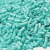 Материалы для творчества handmade. Livemaster - original item 10 grams of 3 mm glass Beads 55 Toho Japanese glass seed beads turquoise opaque. Handmade.