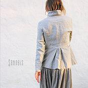 Одежда ручной работы. Ярмарка Мастеров - ручная работа Льняной пиджак «Иланг». Handmade.