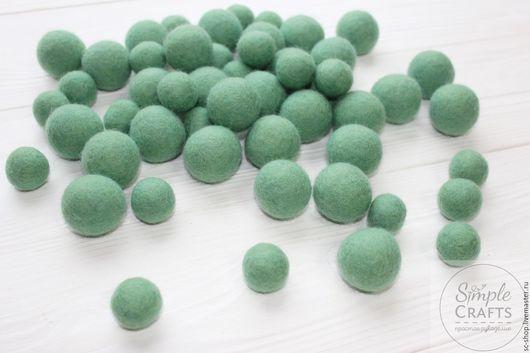 Валяние ручной работы. Ярмарка Мастеров - ручная работа. Купить Войлочный шарик мятный (шарик из шерсти, бусина из шерсти). Handmade.