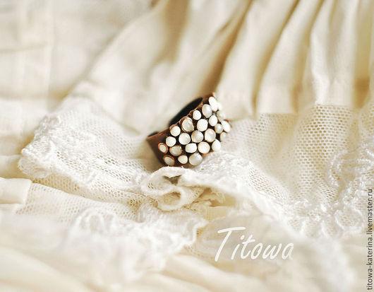 Кольца ручной работы. Ярмарка Мастеров - ручная работа. Купить кольцо Белые кораллы. Handmade. Белый, медное кольцо, белая