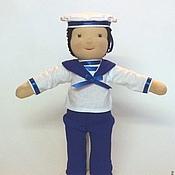 """Куклы и игрушки ручной работы. Ярмарка Мастеров - ручная работа Вальдорфская кукла """"Морячок"""",25см.. Handmade."""