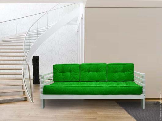 Мебель ручной работы. Ярмарка Мастеров - ручная работа. Купить Диван Stoun. Handmade. Мебель из сосны, диван, белый, зеленый