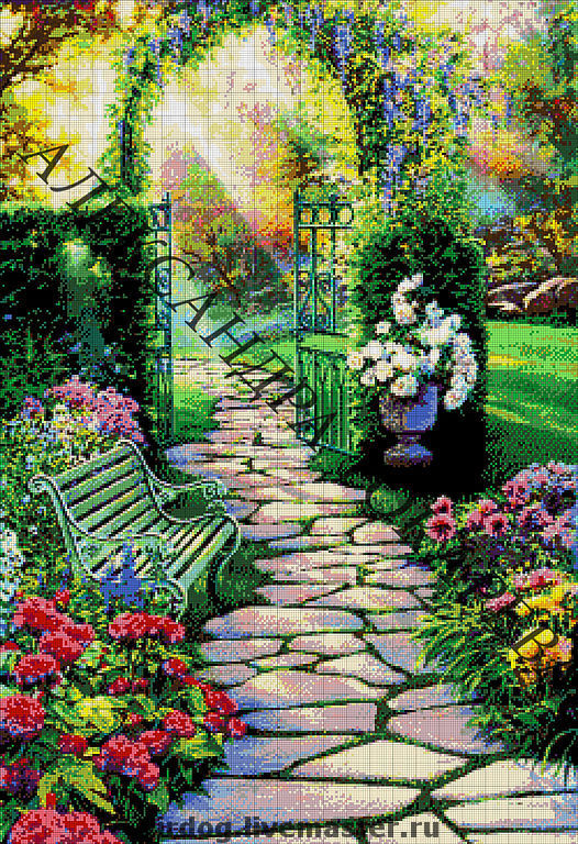 """БИСЕРОМ"""" Райский сад""""."""