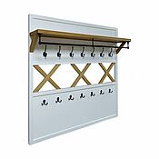 Для дома и интерьера handmade. Livemaster - original item Bergen hanger with oak shelf and crosshairs. Handmade.