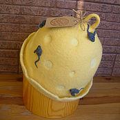 """Для дома и интерьера ручной работы. Ярмарка Мастеров - ручная работа Шапка для бани и сауны """"Мышкина радость"""". Handmade."""