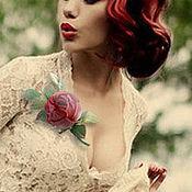 Украшения handmade. Livemaster - original item Brooch boutonniere Red rose in vintage style. silk flowers. Handmade.