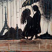 Картины и панно ручной работы. Ярмарка Мастеров - ручная работа Картина Влюбленные в Париже. Handmade.