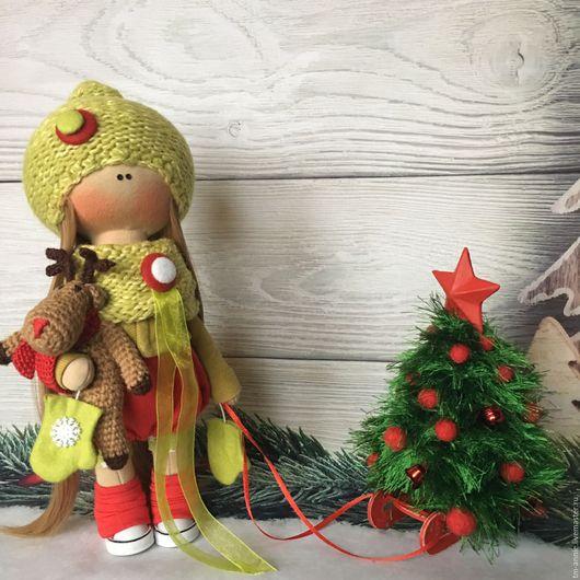 """Коллекционные куклы ручной работы. Ярмарка Мастеров - ручная работа. Купить Текстильная кукла """"Новогодний гном"""". Handmade. Текстильные куклы"""