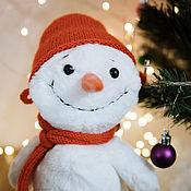 Мягкие игрушки ручной работы. Ярмарка Мастеров - ручная работа Мягкая игрушка Снеговик. Handmade.