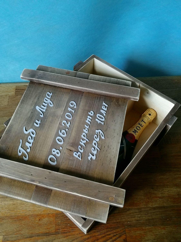 Подарки на свадьбу ручной работы. Ярмарка Мастеров - ручная работа. Купить Свадебный ящик для вина. Handmade. На свадьбу