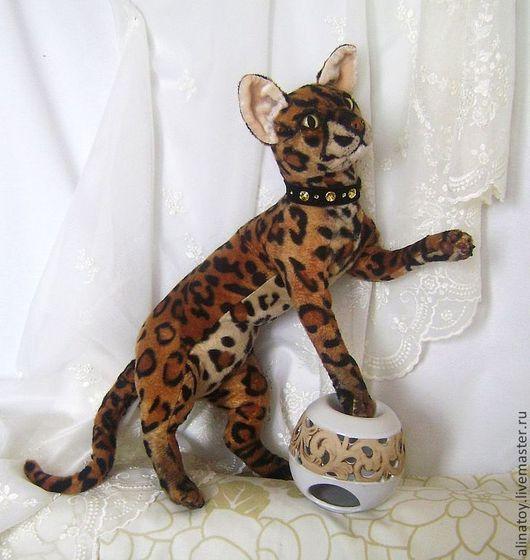Куклы и игрушки ручной работы. Ярмарка Мастеров - ручная работа. Купить Бенгальская кошка Дайана, реалистичная игрушка. Handmade.