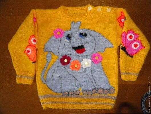 Кофты и свитера ручной работы. Ярмарка Мастеров - ручная работа. Купить Детский пуловер с рисунком. Handmade. Рисунок, детский