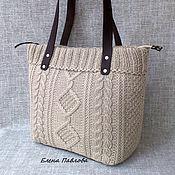 Сумки и аксессуары handmade. Livemaster - original item Knitted tote bag/ ecru. Handmade.