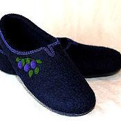 """Обувь ручной работы. Ярмарка Мастеров - ручная работа Тапочки """"Черничные"""". Handmade."""