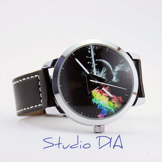 Часы. Наручные Часы. Оригинальные Дизайнерские Часы Dark Side Of The Moon. Студия Дизайнерских Часов DIA.