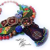 Украшения ручной работы. Ярмарка Мастеров - ручная работа Украшение самое не обычное, Африканское колье: В саду племени Банту. Handmade.