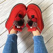 Обувь ручной работы handmade. Livemaster - original item Boots red street