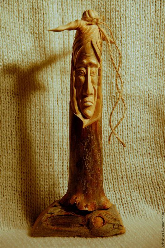 """Статуэтки ручной работы. Ярмарка Мастеров - ручная работа. Купить """"Бабушка Яга"""" (статуэтка из дерева). Handmade. Комбинированный, скульптура, славянский"""
