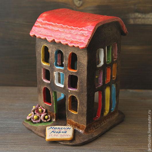 Подсвечники ручной работы. Ярмарка Мастеров - ручная работа. Купить Керамический домик. Handmade. Комбинированный, керамика ручной работы, молочение