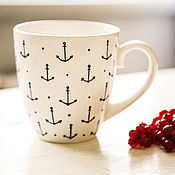 Посуда handmade. Livemaster - original item sailor. Mug handmade ceramics. Handmade.