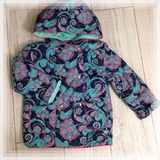 Одежда для девочек, ручной работы. Ярмарка Мастеров - ручная работа. Купить Весенняя стеганая курточка для девочки. Handmade. Комбинированный