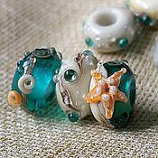 """Материалы для творчества ручной работы. Ярмарка Мастеров - ручная работа """"Пляжные сокровища"""" бусины для браслета пандора. Handmade."""