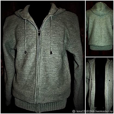 Clothing handmade. Livemaster - original item Associated from flax .Sweatshirt Style zip up hooded. Handmade.