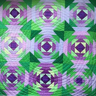 """Картины и панно ручной работы. Ярмарка Мастеров - ручная работа Лоскутное панно """"Зеленое"""". Handmade."""
