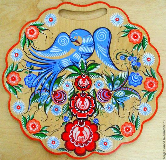 """Кухня ручной работы. Ярмарка Мастеров - ручная работа. Купить """"Синяя птица"""" Досочка, роспись. Handmade. Разделочная доска"""