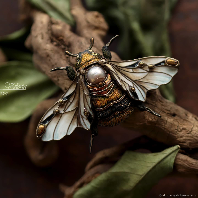 Brooch-pin: ' Golden bumblebee', Brooches, Vladimir,  Фото №1