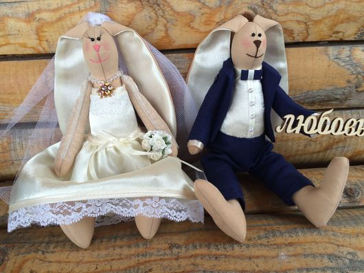 Куклы Тильды ручной работы. Ярмарка Мастеров - ручная работа. Купить Свадебные зайки. Handmade. Tilda, handmade, свадебные зайцы