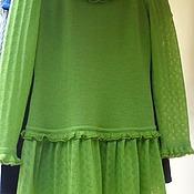 """Одежда ручной работы. Ярмарка Мастеров - ручная работа платье """" Молодая зелень"""". Handmade."""