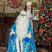Одежда ручной работы. Ярмарка Мастеров - ручная работа Костюм Деда мороза и костюм Снегурочки. Handmade.